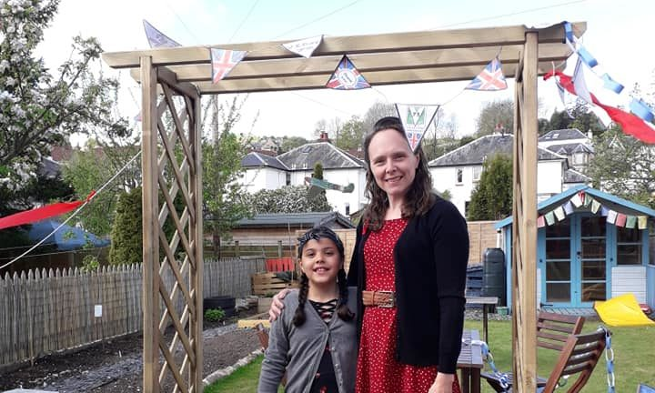Mum Lindsey and daughter Katilin transformed their garden to celebrate VE Day