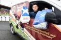 Stenhousemuir FC players brought food directly to people's houses.