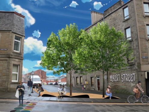 Stobswell Forum have created images showing Craigie St pocket park.