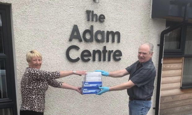 Irene Mitchell, manager of the Adam Centre in Montrose with Bob Cheyne, one of the Freemason coordinators.
