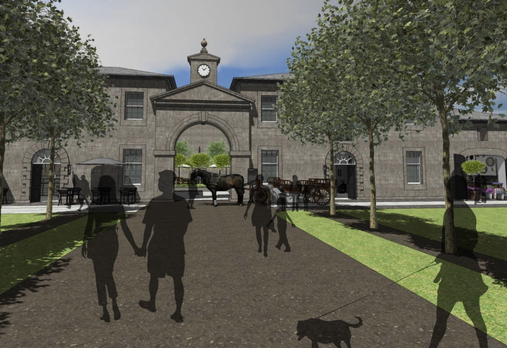 Artist impression of the historical park for Angus.