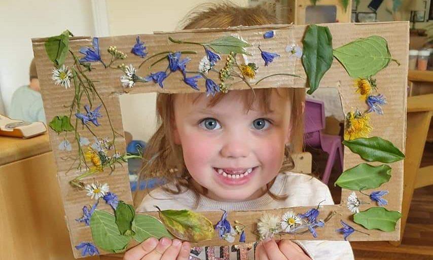 One of Ninewells Nursery's crafty kids.