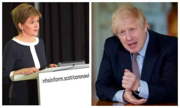 Nicola Sturgeon's advice remains the same in Scotland, despite Boris Johnson's easing of the lockdown restrictions.
