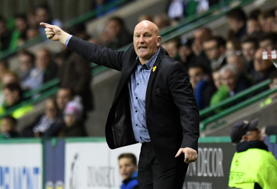 Jim Duffy instructs his players from the touchline.