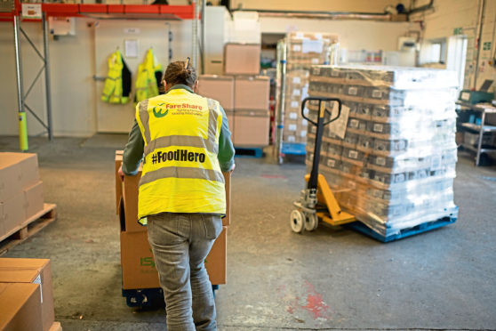 Food charity FareShare has seen its output quadruple during lockdown.