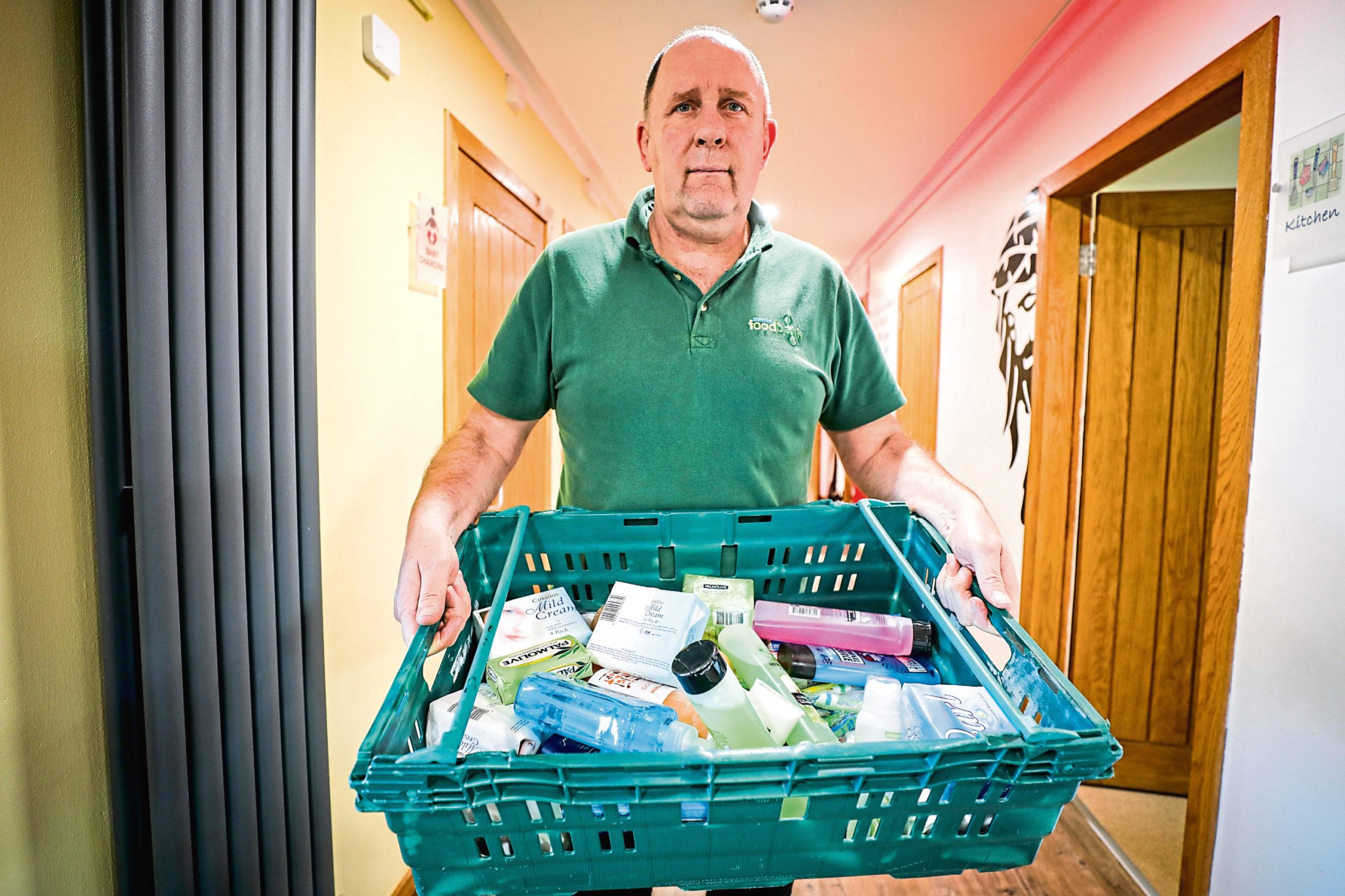 Ken Linton at Dundee Foodbank.