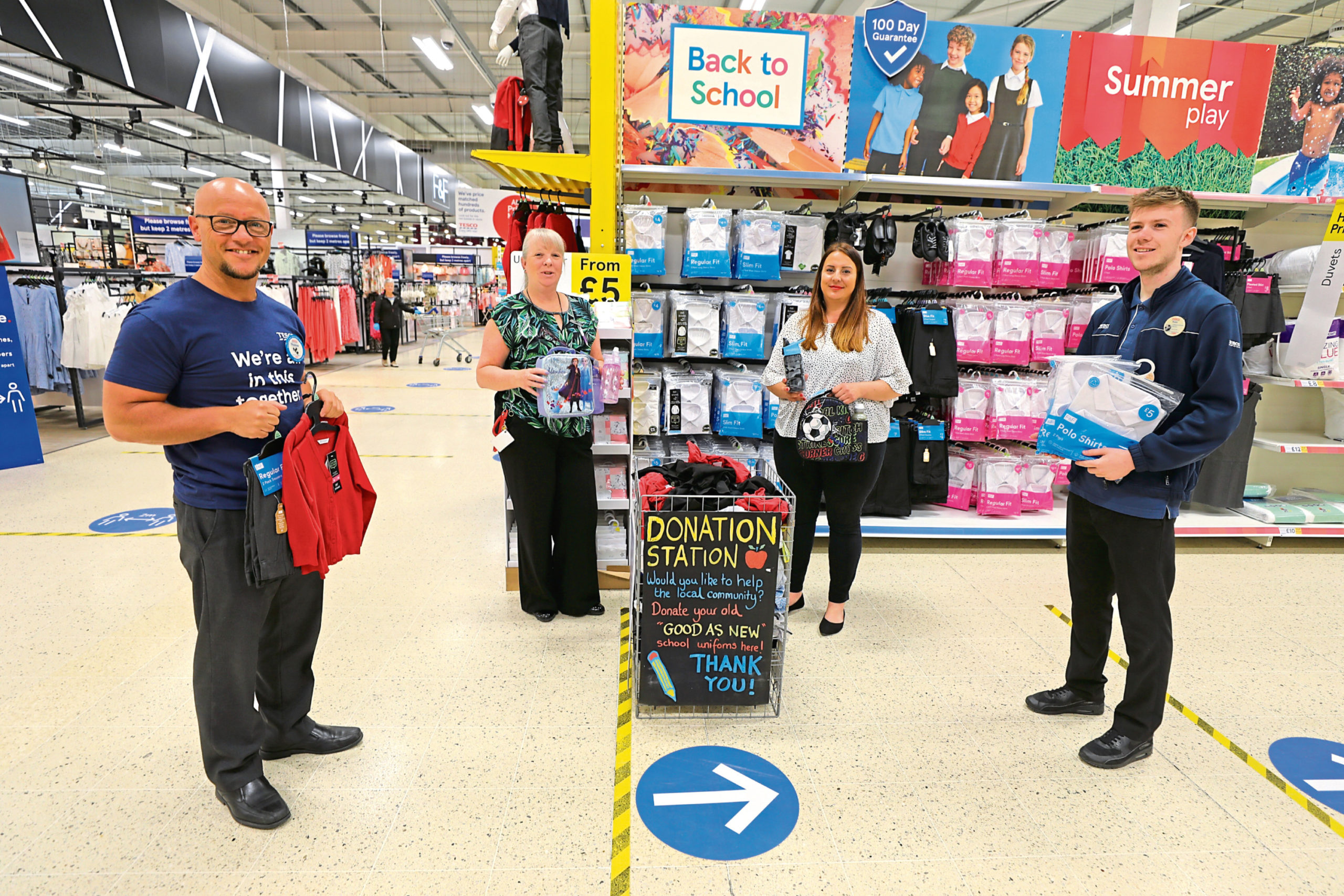 From left: Thomas McCulloch, Jacque, Hannah and Daniel Cassidy at the store.