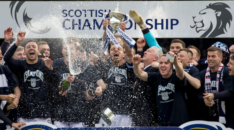 Dundee celebrate Championship title triumph