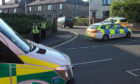 Police close off entrances to Cullden Crescent, Arbroath on June 25. Image by Wallace Ferrier.