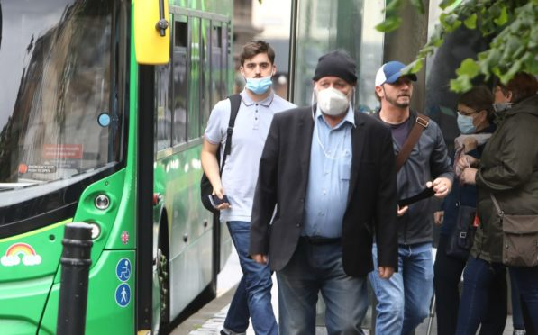 Face masks are now mandatory on public transport.