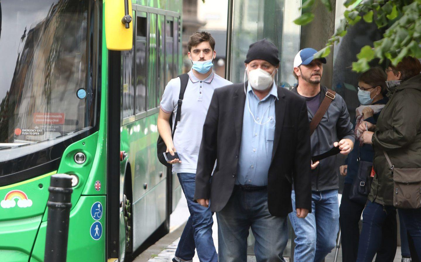 Face masks are now mandatory on public transport.