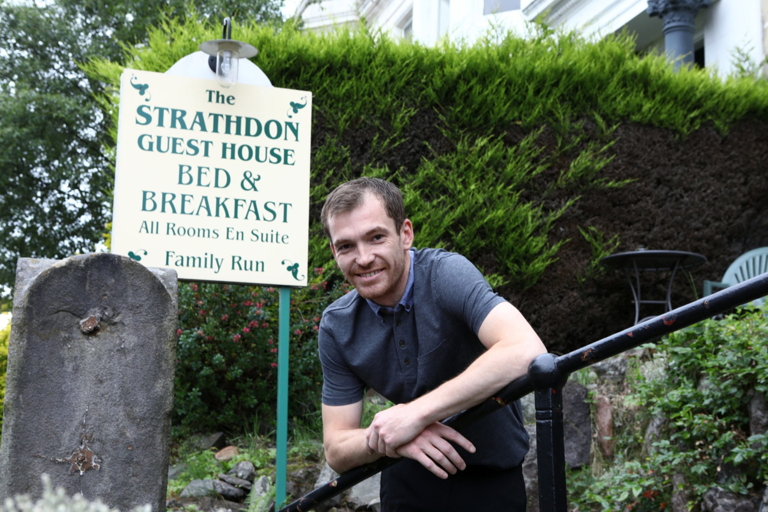 Tom French at the Starthdon Guest House on the Perth Road.