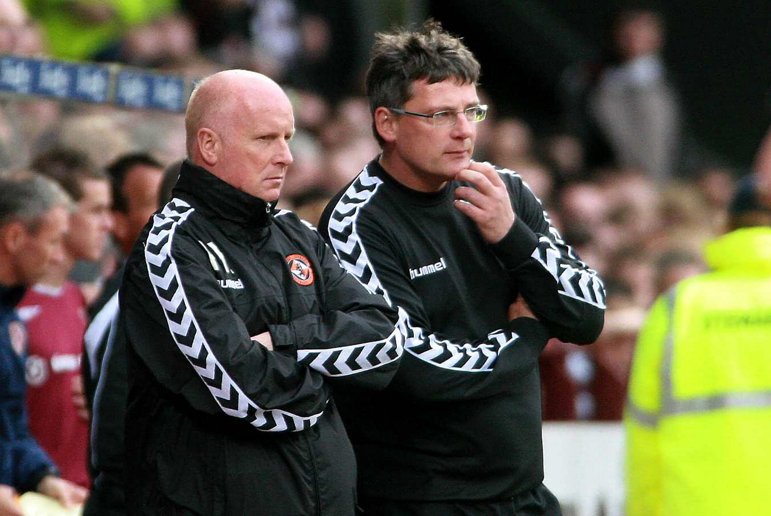 Former Dundee United managers Peter Houston and Craig Levein.