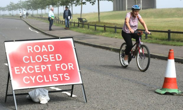 The Esplanade in Broughty Ferry has been closed to through traffic since June 15.