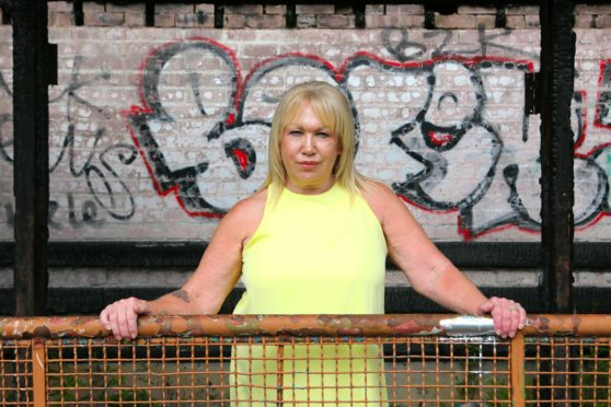 Heather Kennedy is pictured at the Strathmartine Hospital bus stop.