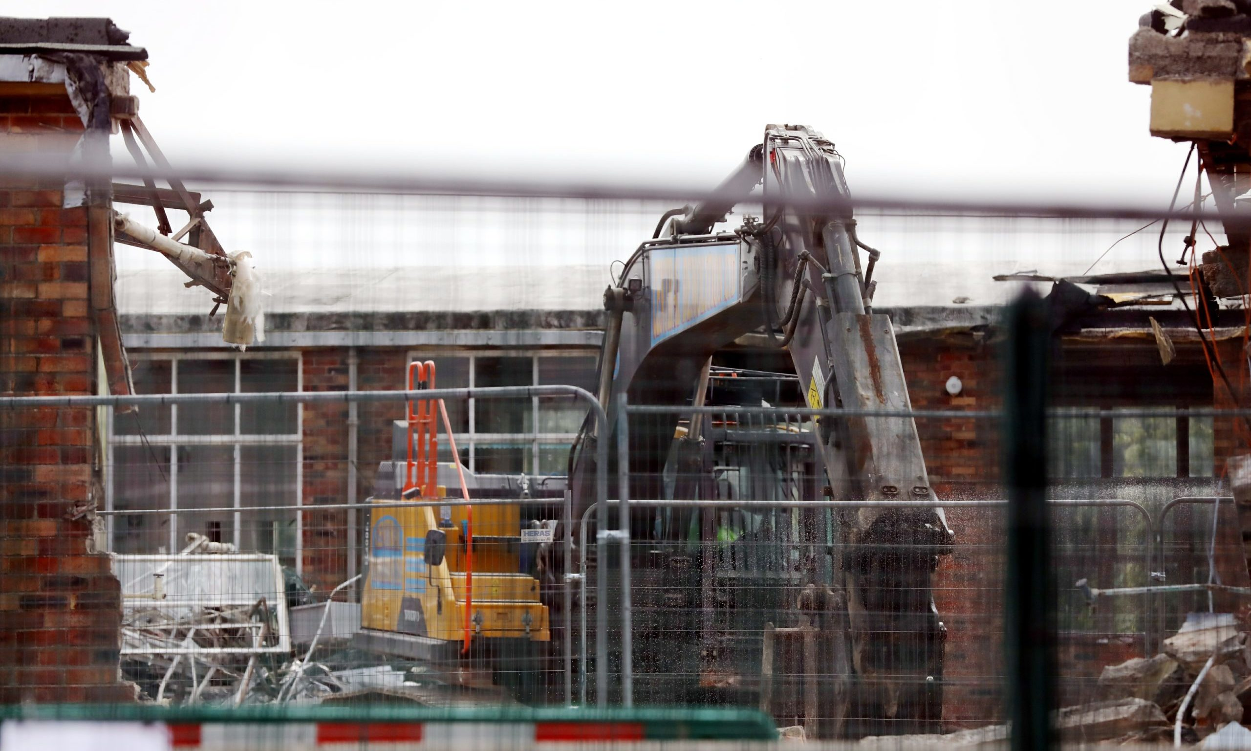 The old Hayshead School is in the middle of being demolished - but work has now ground to a halt.