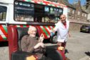 Dundee ice cream legend Primo Cabrelli with his pal Frankie.
