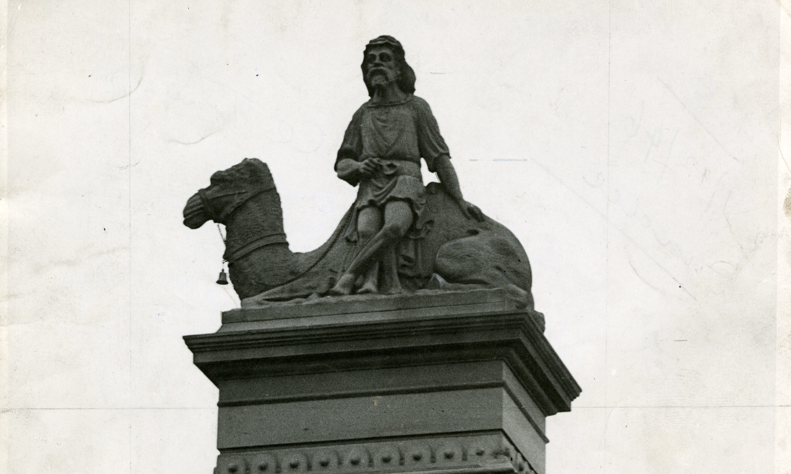 The camel statue.