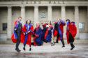Dundee University graduates celebrated together last year.