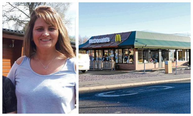 Gail Connelly crashed while drunk at a Dundee McDonald's drive-thru.