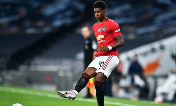Marcus Rashford in action.