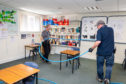 Schools had already prepared for pupils to return part-time with classes set up for physical distancing.