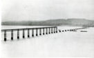 The Tay Rail bridge as it stood after the disaster.