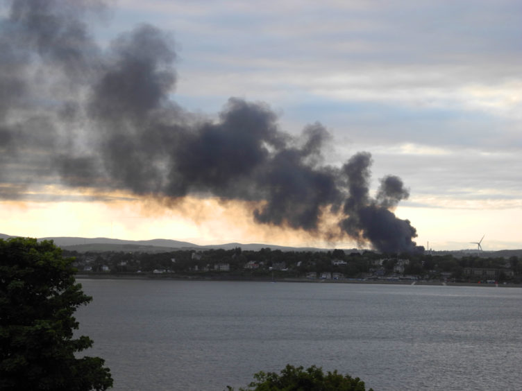 Various readers sent in pictures of the fire from where they were, with the smoke visible for miles.