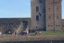 Crowds of youths have been seen gathering at Broughty Ferry Castle, despite social distancing measures still being in place.