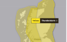 A yellow weather warning has been issued.