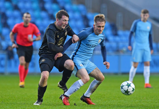 Man City kid in action against Celtic youths in 2016