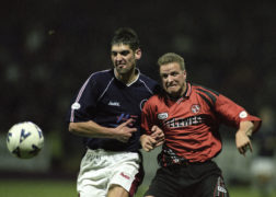Robbie Raeside played for Dundee between 1996 and 2000 and is now U/15s coach at Dens Park.