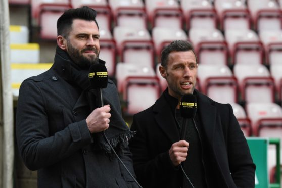 Steven Thompson alongside fellow ex-United striker Scott McDonald