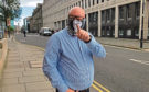 John Menzie outside Dundee Sheriff Court.