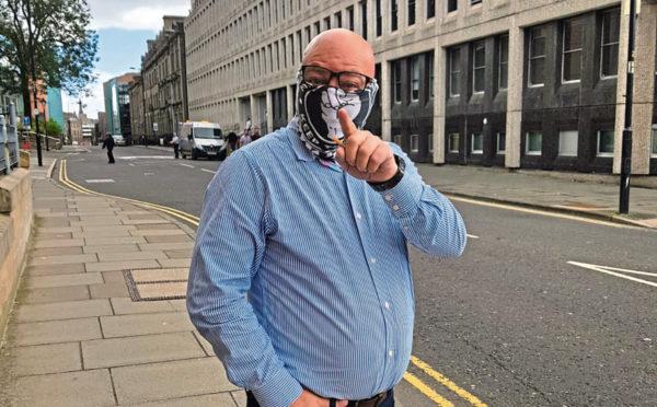 John Menzie outside Dundee Sheriff Court.