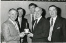 Jim McLean (far left), Sir Alex Ferguson (second from left) and Jock Stein (far right) pictured in 1984