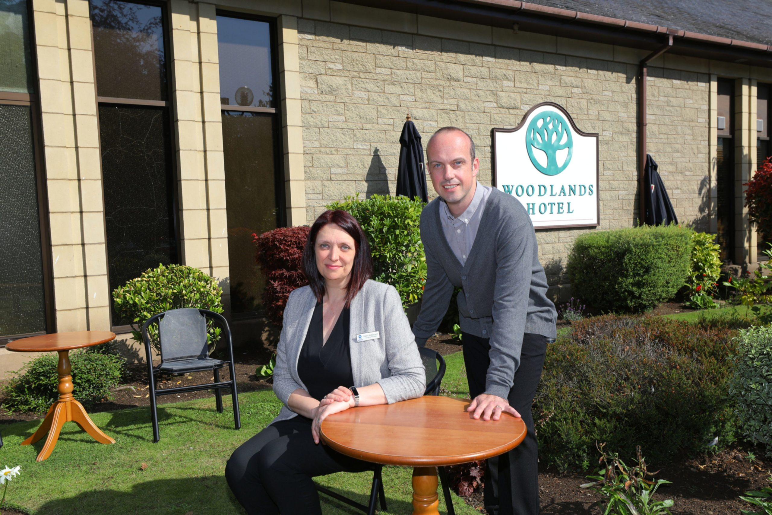Nikki Robertson - General Manager and Ewan MacRae - Head Chef, at the Best Western Woodlands Hotel in Broughty Ferry.