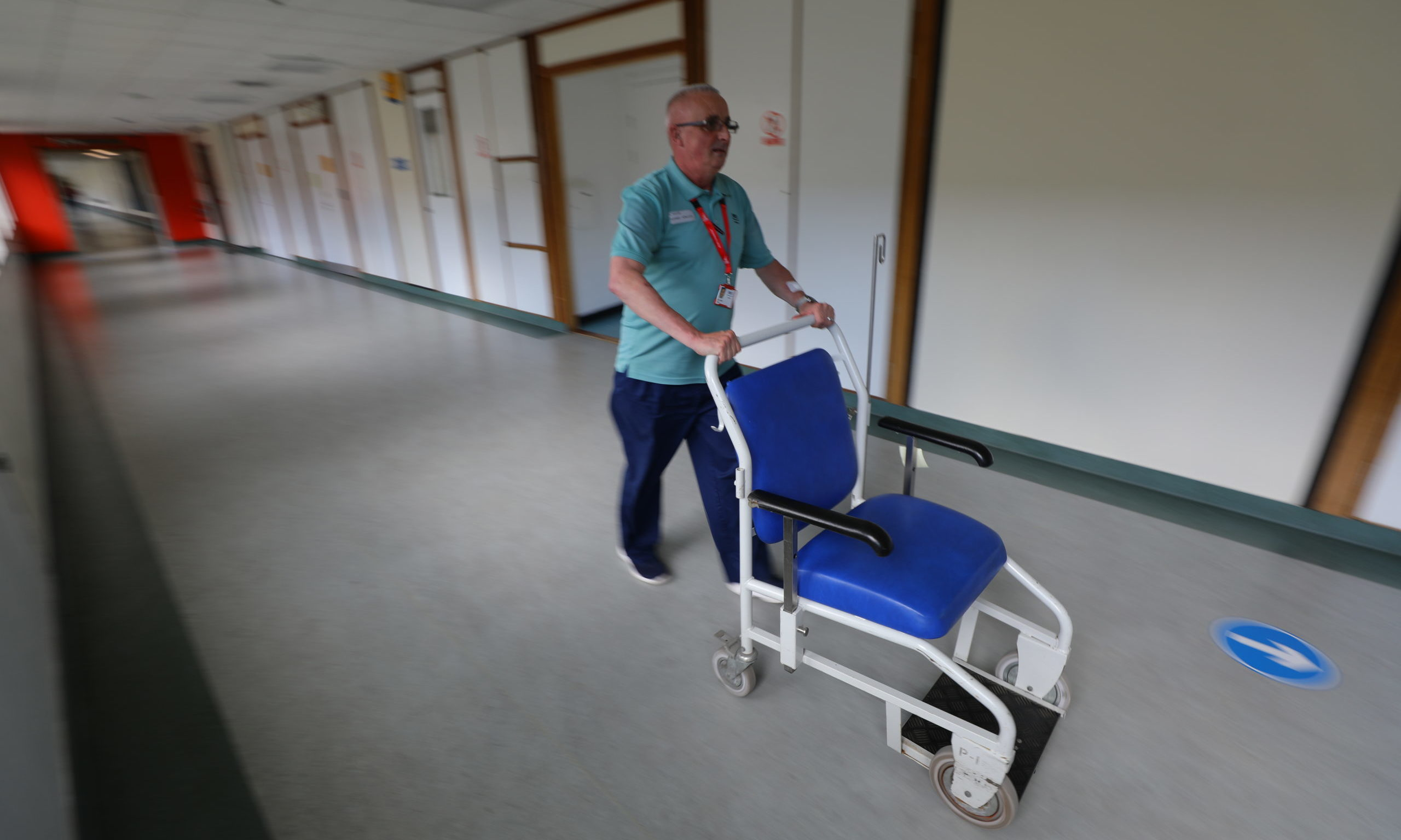 Gary Millar is one of the porters at Dundee's Ninewells Hospital.