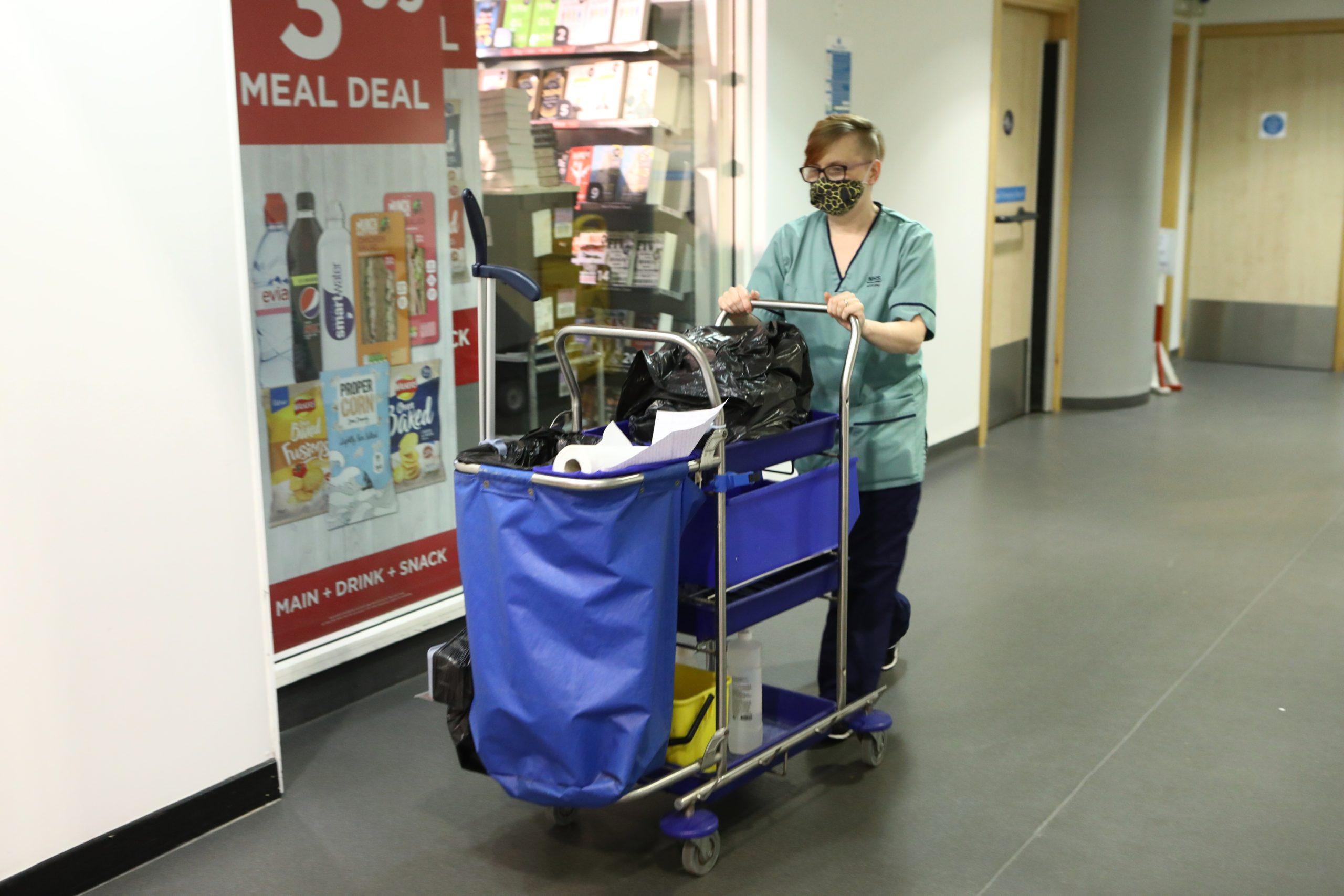 Katie Irwin, a domestic assistant at Ninewells Hospital