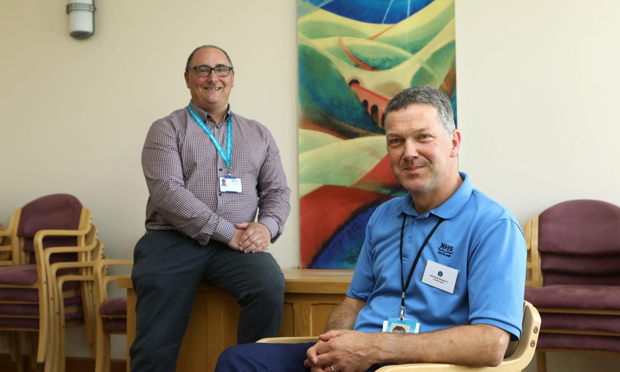 Steven Steiner (left) and Andrew Bennett from Ninewells' chaplaincy centre