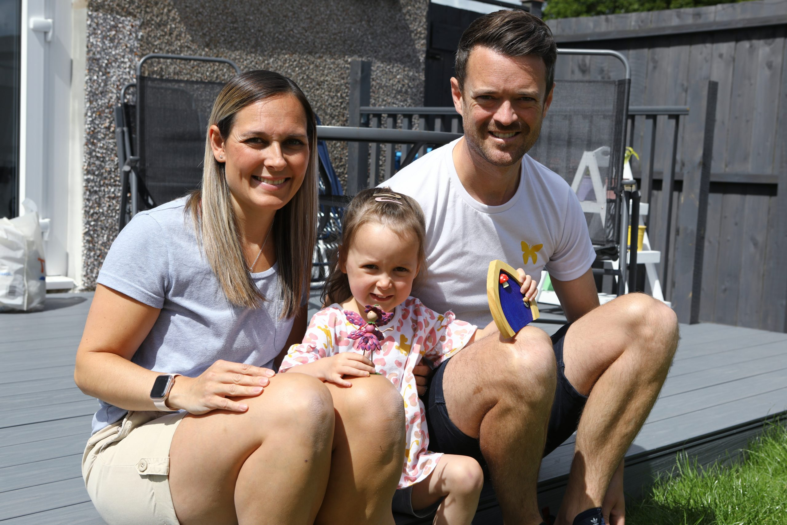 Andrew and Jaclyn Suttie with daughter Georgia.