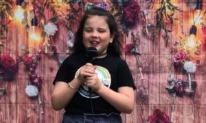 Frankie, 8, who sang Lady Gaga.