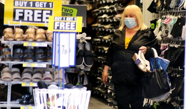 Shoppers were out in force in Dundee on the first day masks became mandatory.