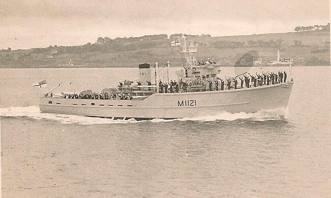 HMS Montrose off the coast of Tayport.