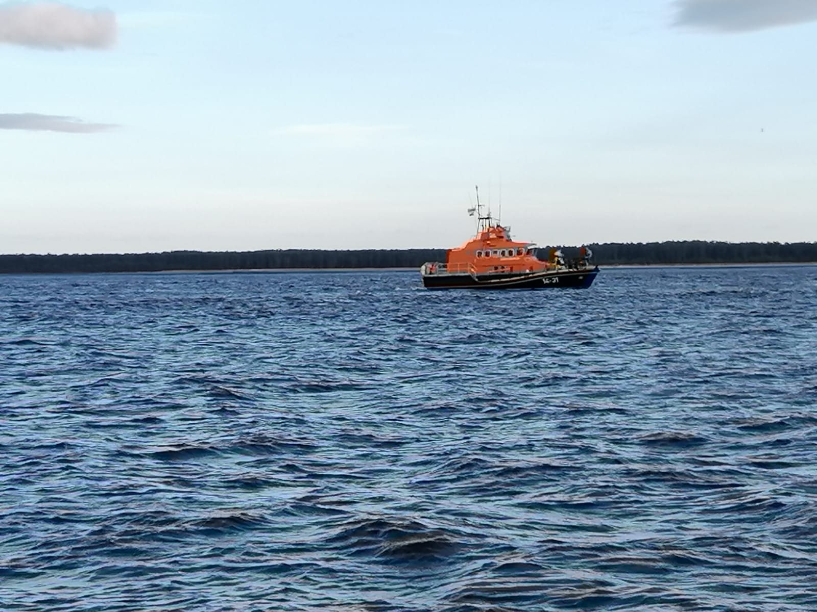 The lifeboat in action.
