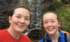 Georgia, 17, and Kathryn Davidson, 16, took on the challenge in memory of their grandfather.