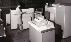 The first computer at the university in 1966.