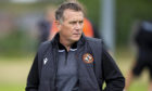 MOTHERWELL, SCOTLAND - JULY 11: New Dundee United manager Micky Mellon during a friendly match between Motherwell and Dundee United at Dalziel Park on July 11, 2020, in Motherwell, Scotland.