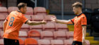 Cammy Smith (right) celebrates his goal with Peter Pawlett.