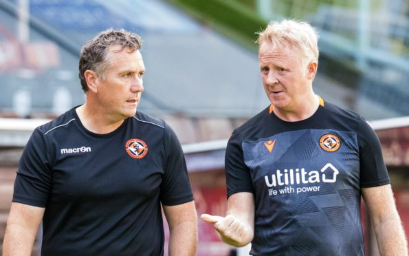 Micky Mellon and Stevie Frail pictured during United training